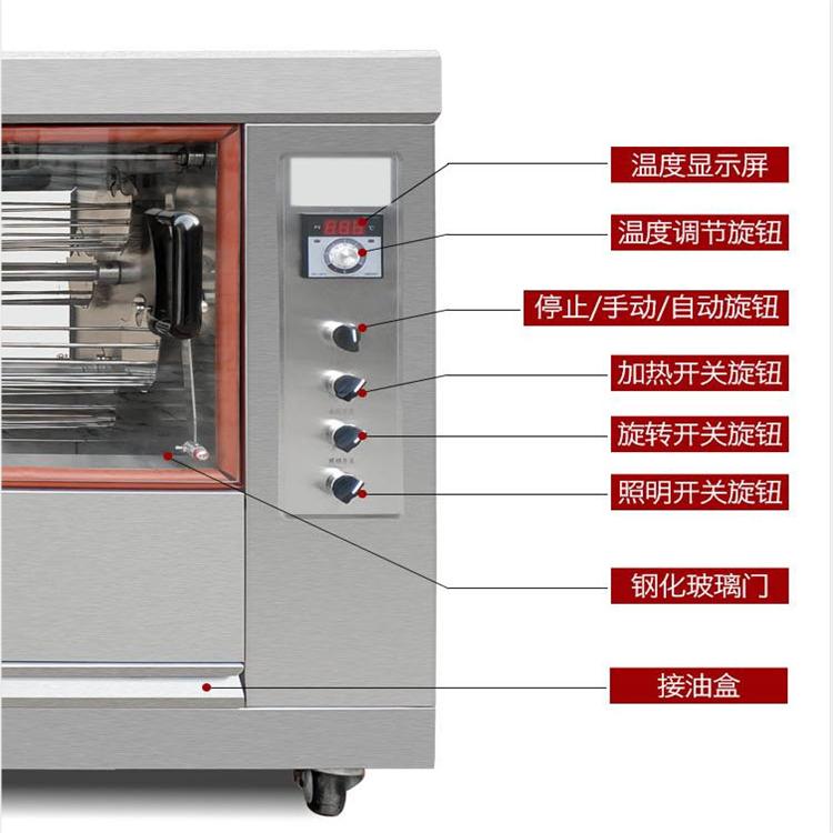泛泰旋轉烤雞爐商用電熱燃氣烤雞架爐烤鴨爐烤乳鴿機大烤箱烘烤箱